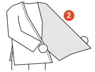 Belt Tying Step 2