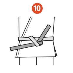 Belt Tying Step 10